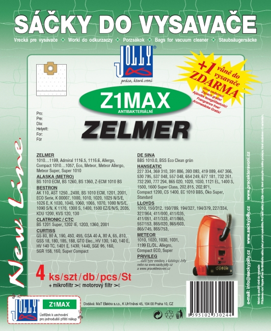 Z1 MAX - sáček do vysavače INTERCLEAN